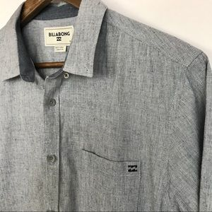 BILLABONG Mens Button Front Shirt Size Med